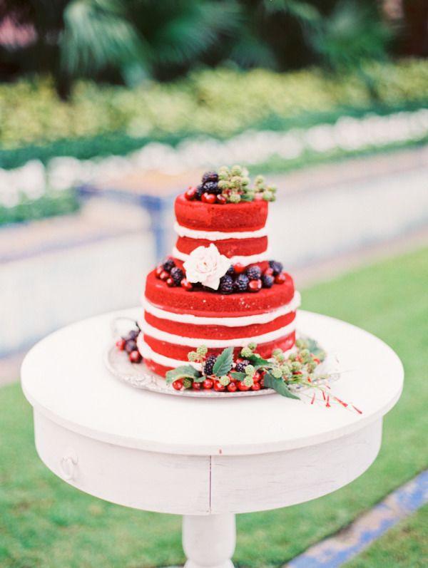 naked wedding cake for vineyard wedding | fabmood.com