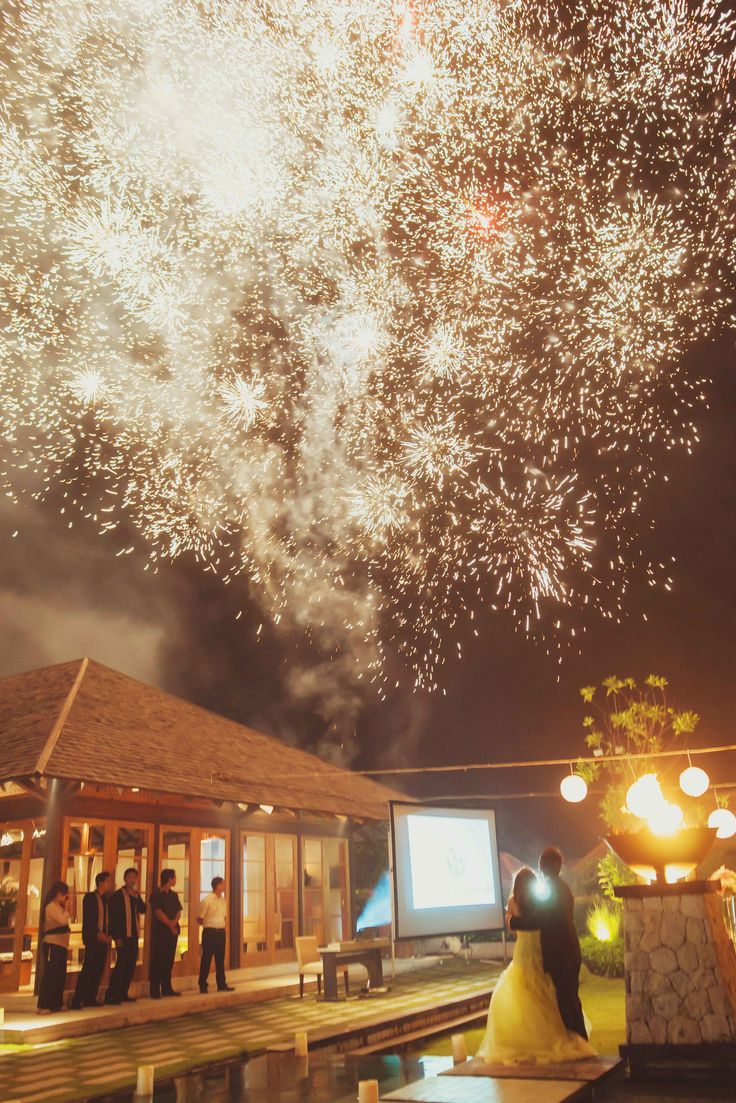 Send them off with a lasting impression. Have a fireworks display - wedding reception ideas