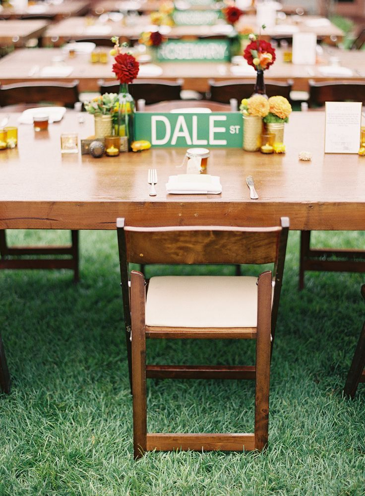 Give each reception table a name for example your visited placed