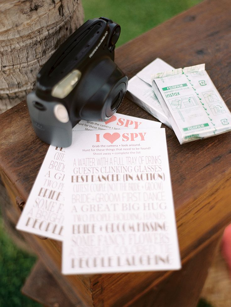 I spy fun wedding games - wedding reception ideas