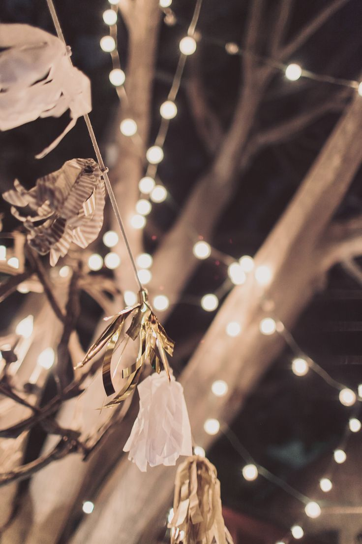 Add a string of white lights to create a more romantic ambiance