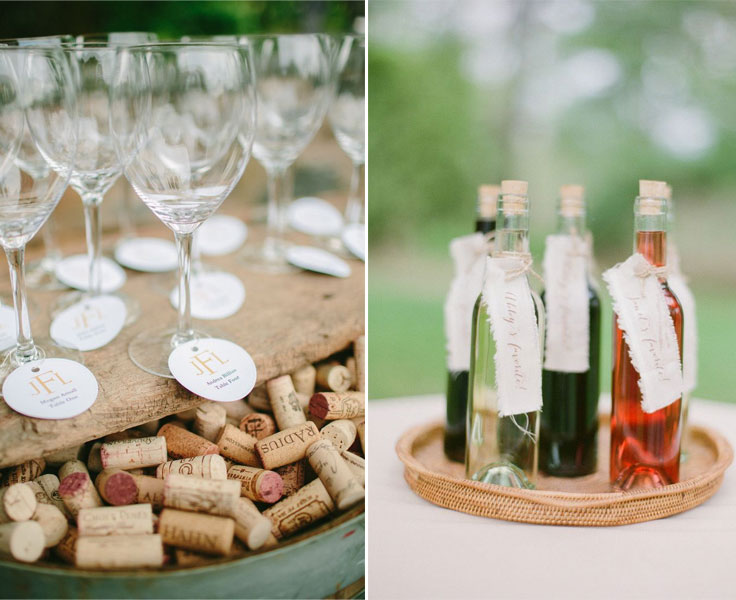 wine wedding favors for winery wedding | fabmood.com