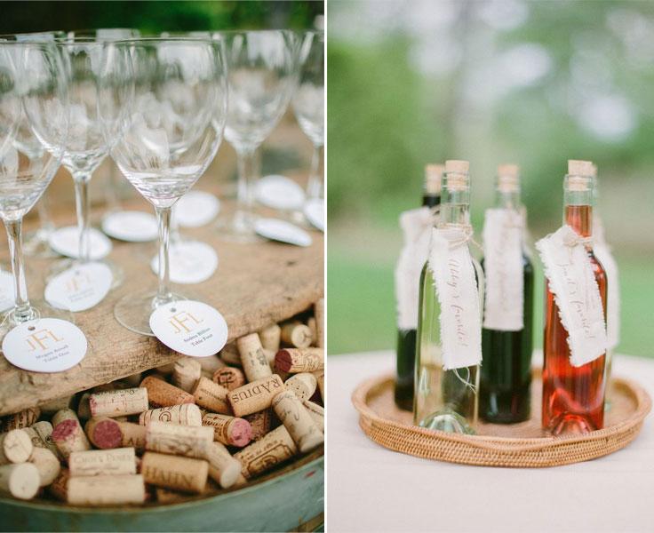 wine wedding favors for winery wedding | fabmood.com
