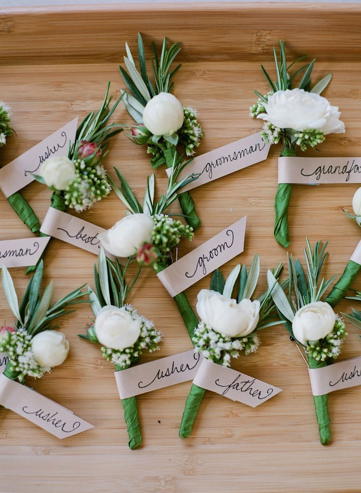 Boutonnieres ideas for green wedding ideas : fabmood.com