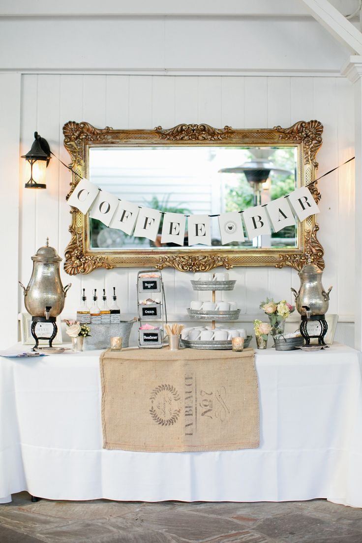 Coffee bar Wedding for Autumn and Winter Weddings