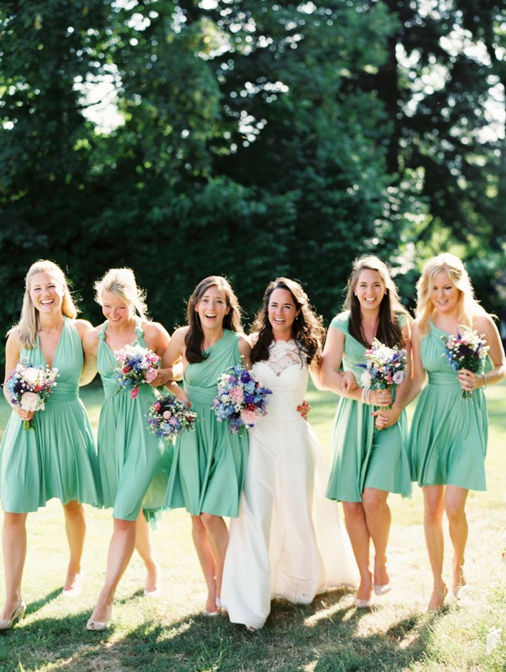Green bridesmaids | fabmood.com