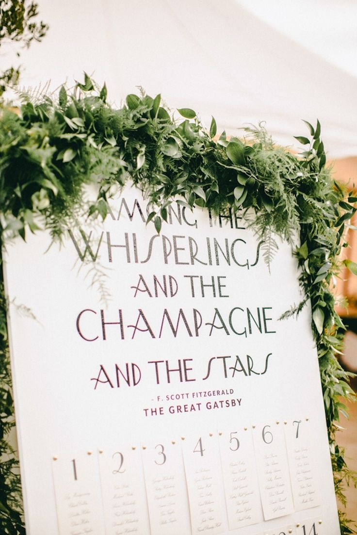 Green wedding seating chart ideas | fabmood.com