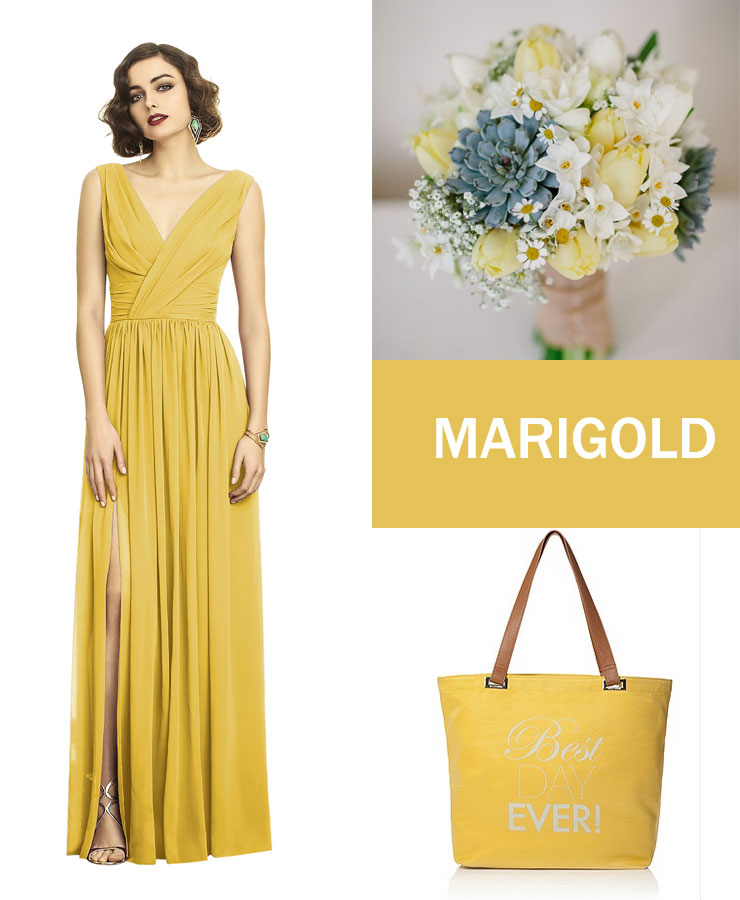 Marigold bridesmaid dress |  fabmood.com