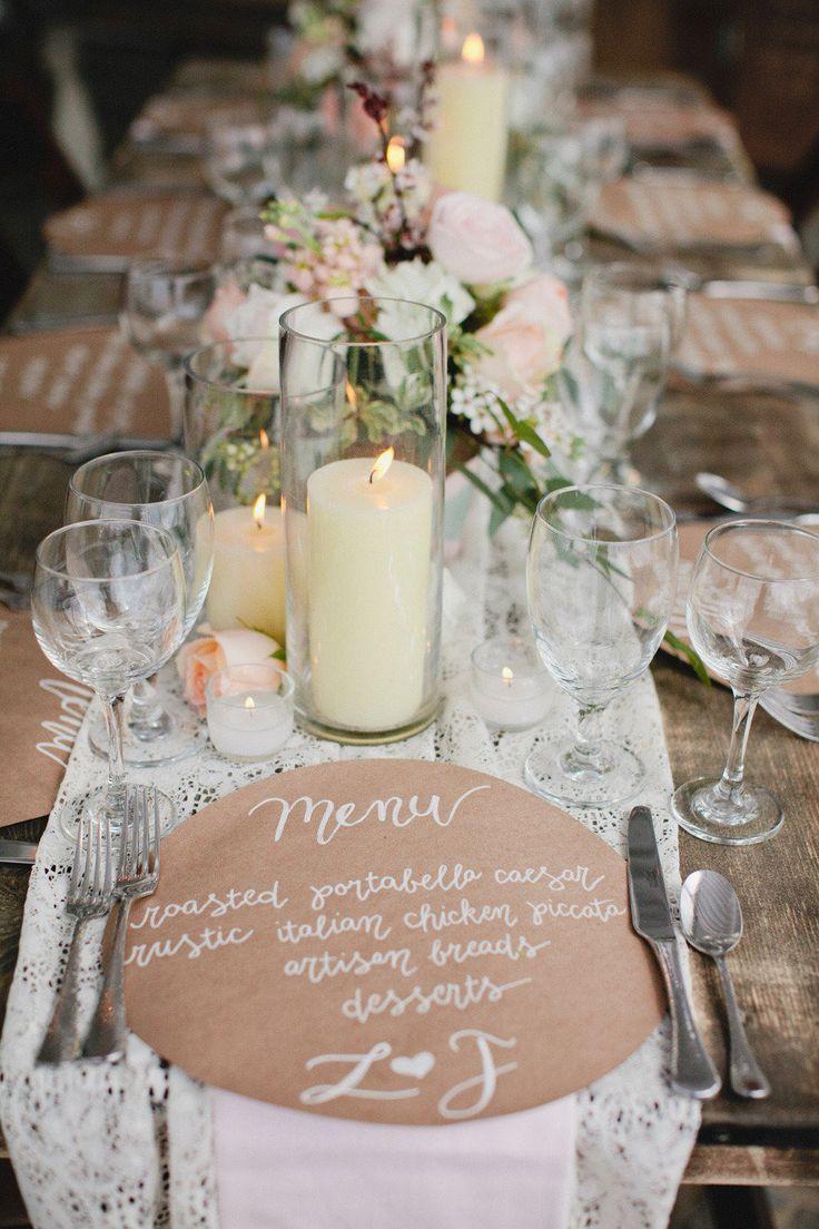 Rustic chic wedding table | fabmood.com