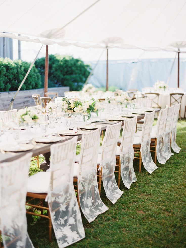 Sheer Lace wedding Chair Covers | fabmood.com