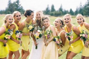 Yellow bridesmaid dresses Add a playful colour to Your Special Day!