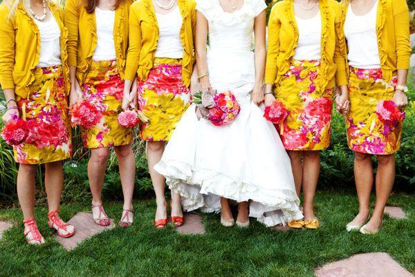Yellow Bridesmaids: fabmood.com