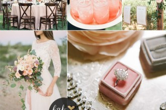 blush and peach outdoor wedding | fabmood.com