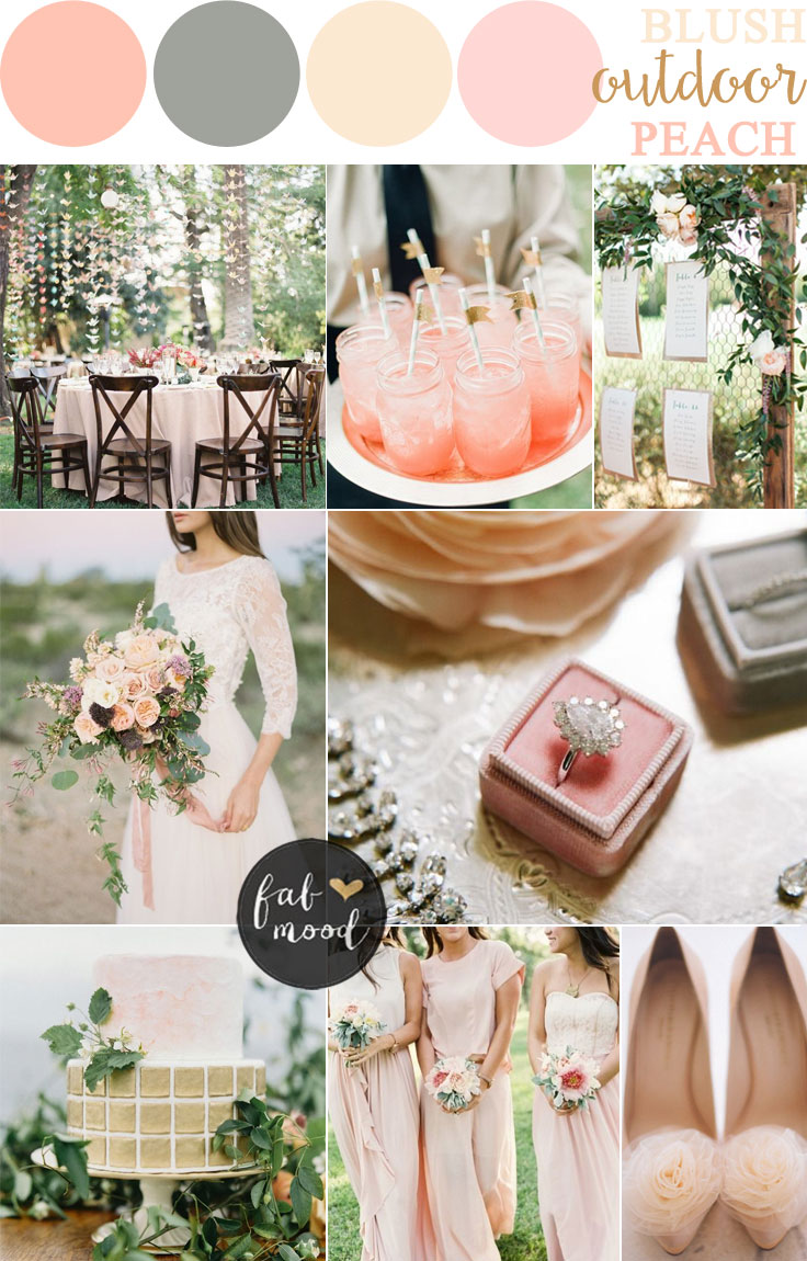 Blush Pink and Peach Wedding Colour for gardern wedding | fabmood.com