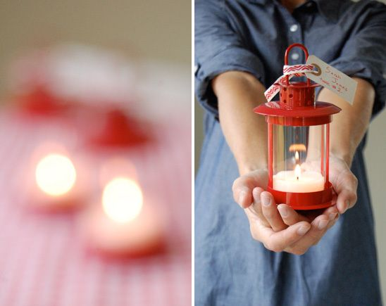 Mini Lantern Escort Cards and Favors | fabmood.com