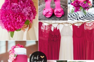 Hot pink wedding colour combos | fabmood.com
