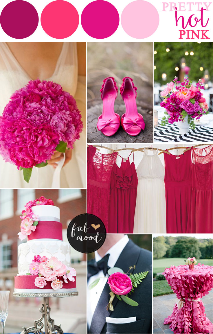 Hot pink wedding color combos Good color combination for pink