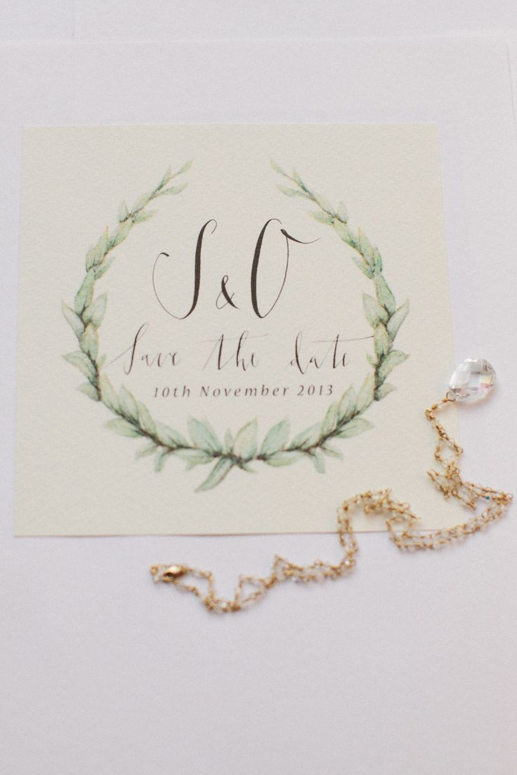 green wedding invitations | fabmood.com