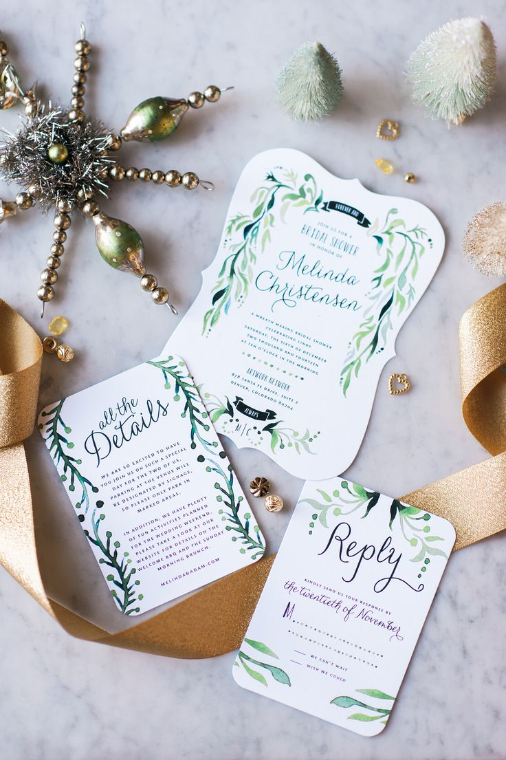 green bridal shower invitations | fabmood.com