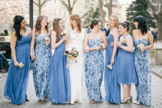 Pretty Floral Print Bridesmaids