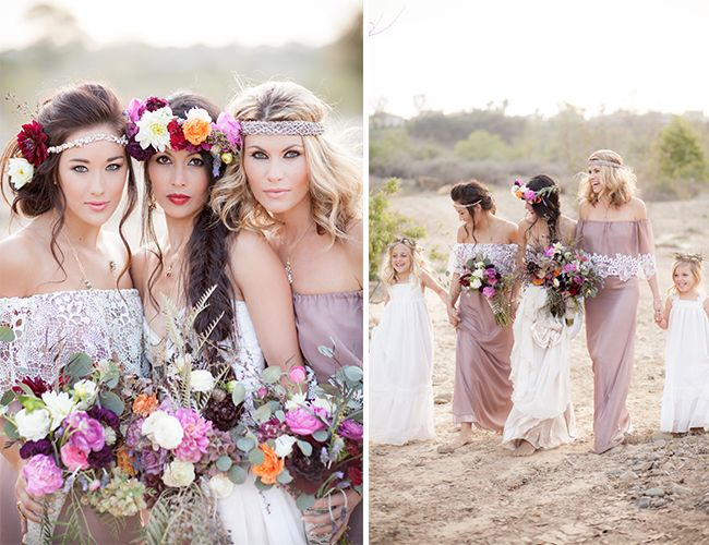 bohemian bridesmaid
