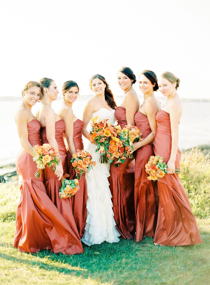 Orange Bridesmaid Dresses Add A Fresh Amp Fun Colour