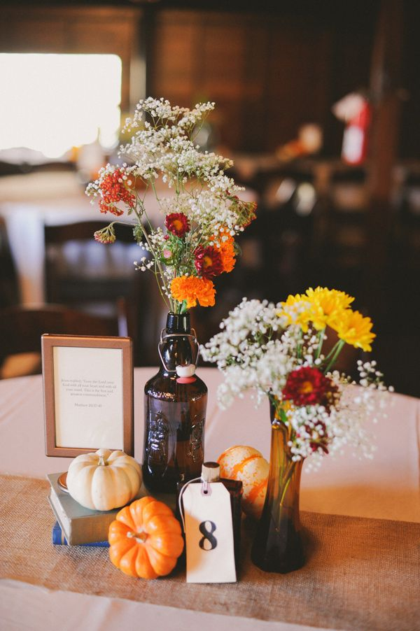 Fall wedding centerpieces fab mood colours