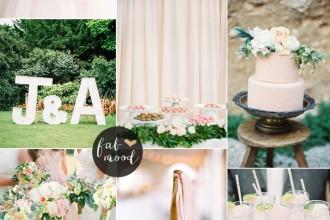 Blush pink garden wedding | fabmood.com