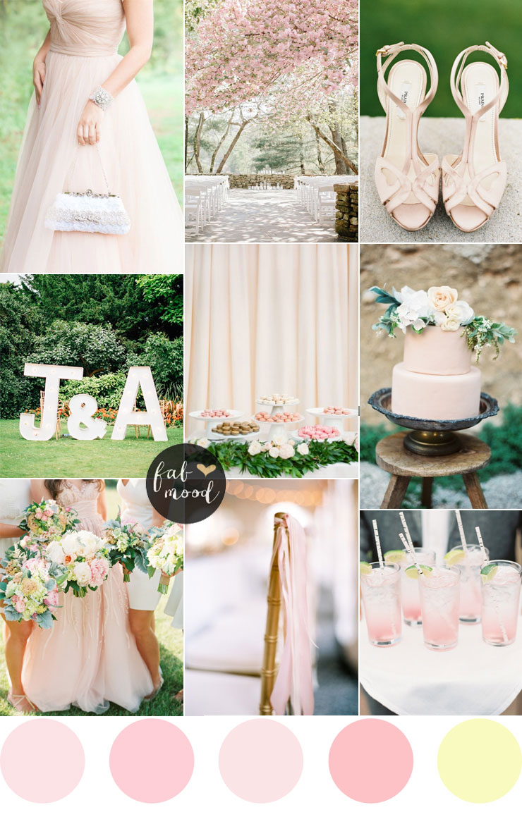 Blush pink garden wedding | fabmood.com