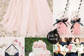 Blush navy blue wedding inspiration | fabmood.com
