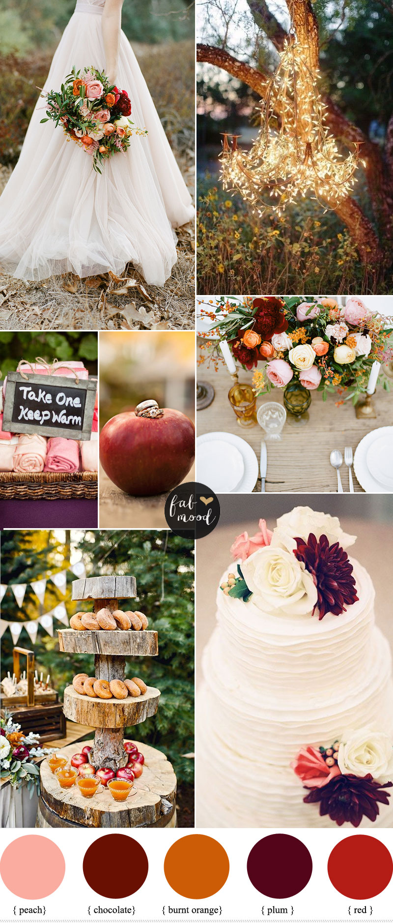 Burnt Orange Peach And Plum Wedding Autumn Colors