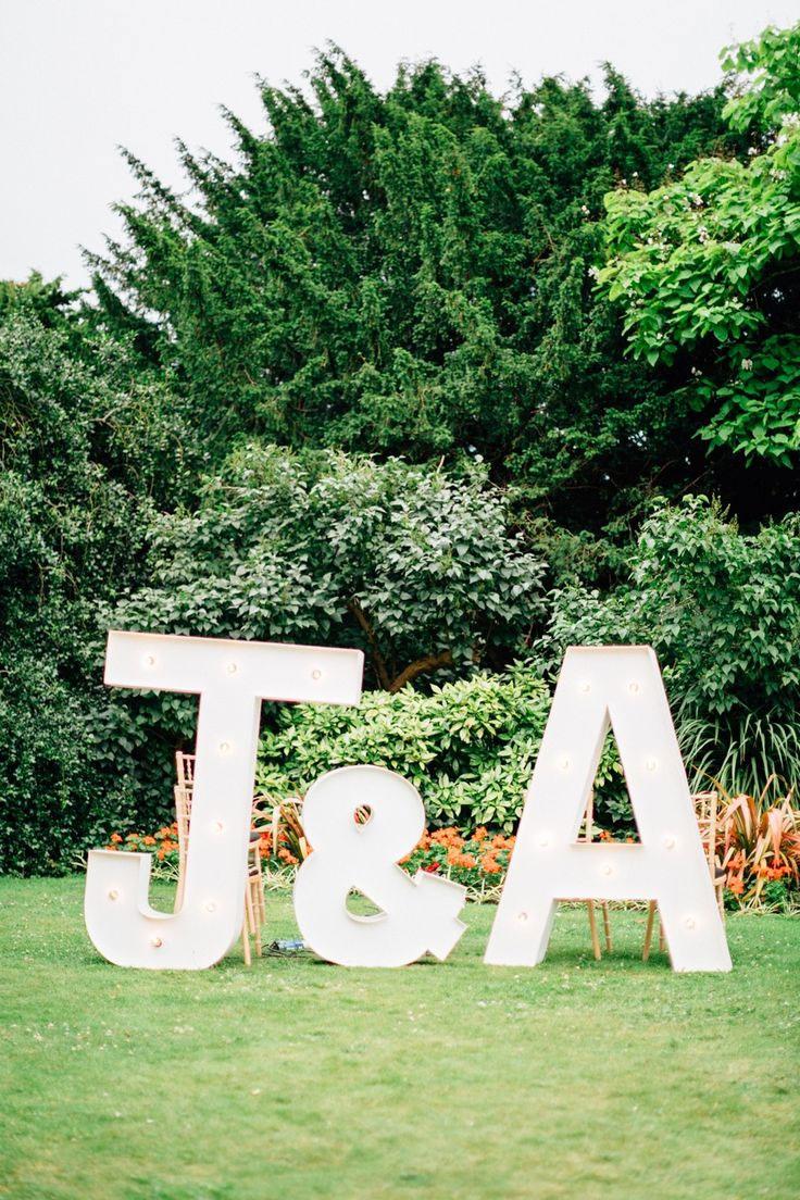 Giant Letters   blush pink wedding inspiration   fabmood.com   Jacob & Pauline Photography