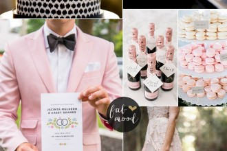 Black and Blush Pink Wedding Romantic Wedding Color Scheme | fabmood.com