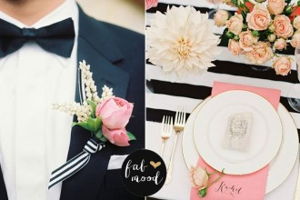 Black white and blush wedding decor | fabmood.com