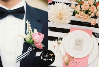 Black white and blush wedding decor | fabmood.com