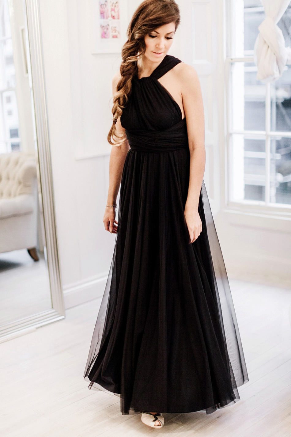 Black bridesmaid from Two birds bridesmaid - scarlet wedding colour | fabmood.com