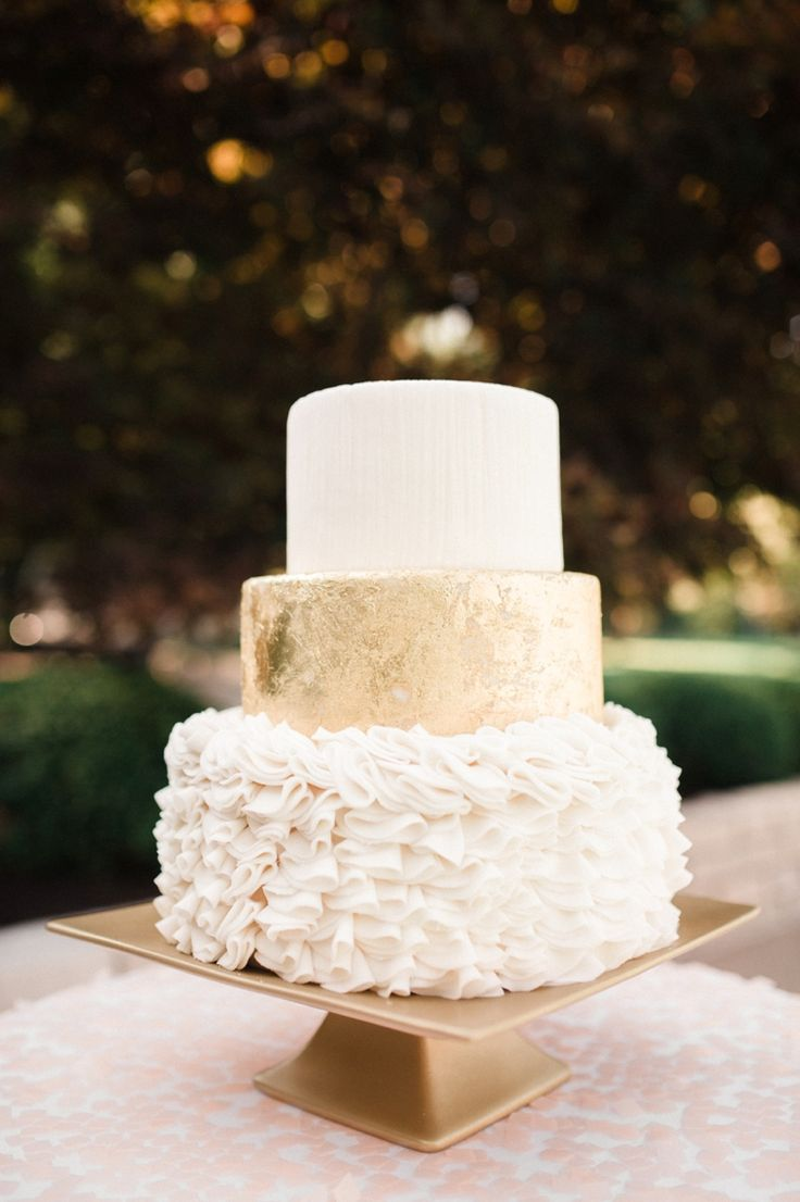 wedding cakes with gold accents spark and shine your day - blush and gold wedding cake | fabmood.com