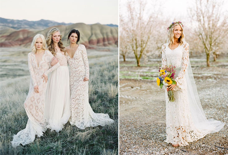 10 Beautiful Bohemian Wedding Dresses | Boho Wedding Dresses