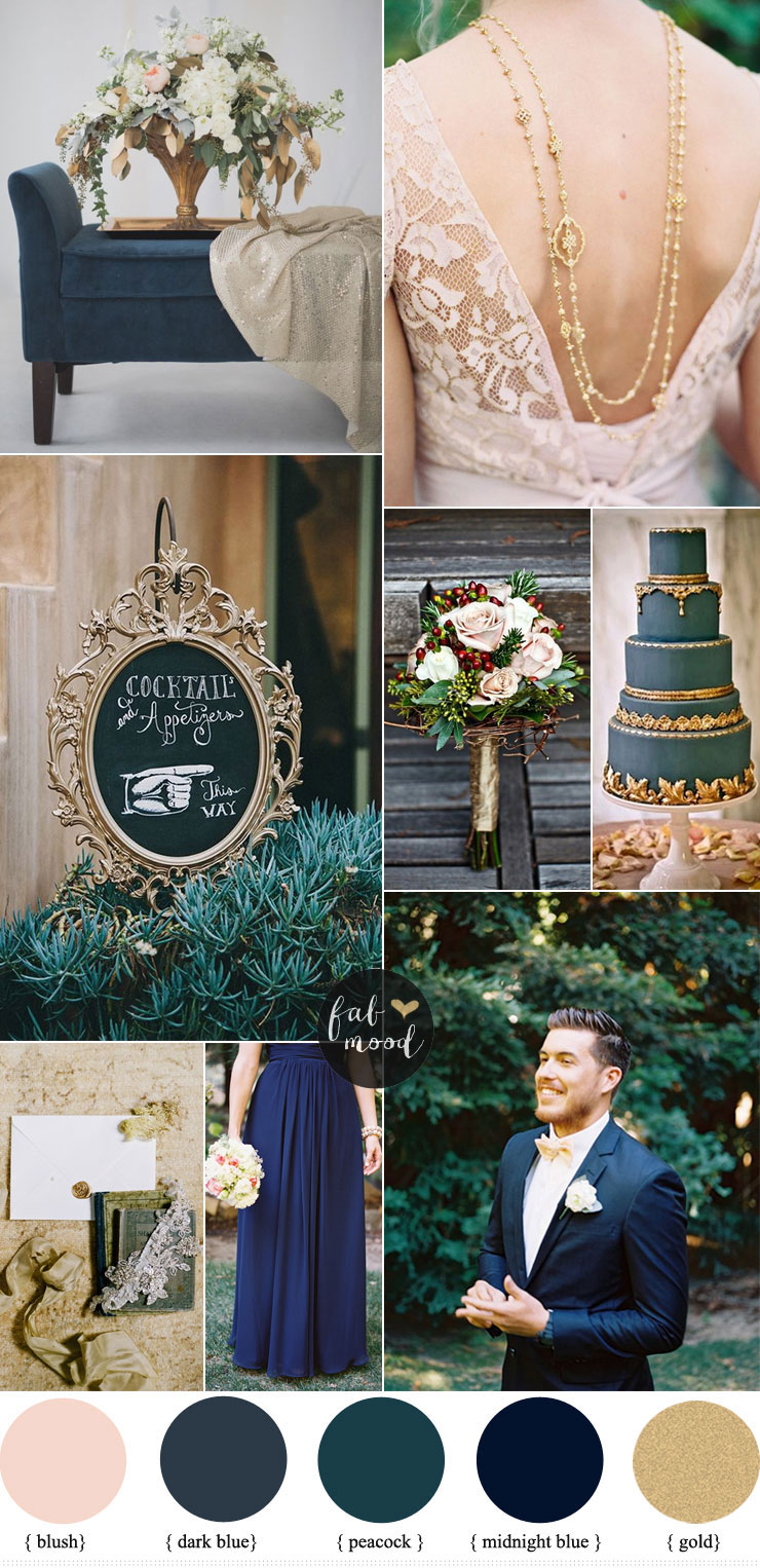 wedding ideas 2015 blue and gold wedding theme 28051