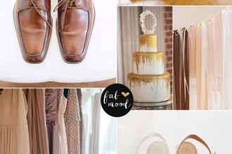 Blush Brown and Gold Wedding Perfect for Autumn Wedding | fabmood.com
