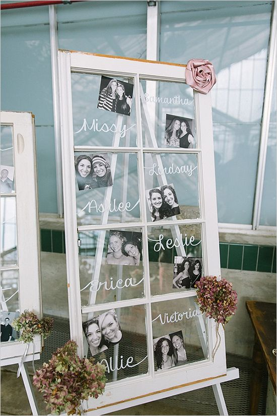 Unique wedding reception ideas on a budget – Simple display wedding photo on window flame