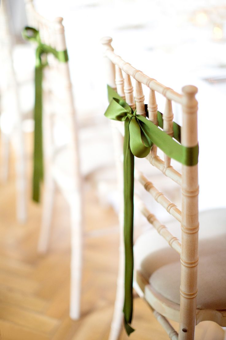 Unique wedding reception ideas on a budget – Simple ribbons decoration the wedding ceremony chairs