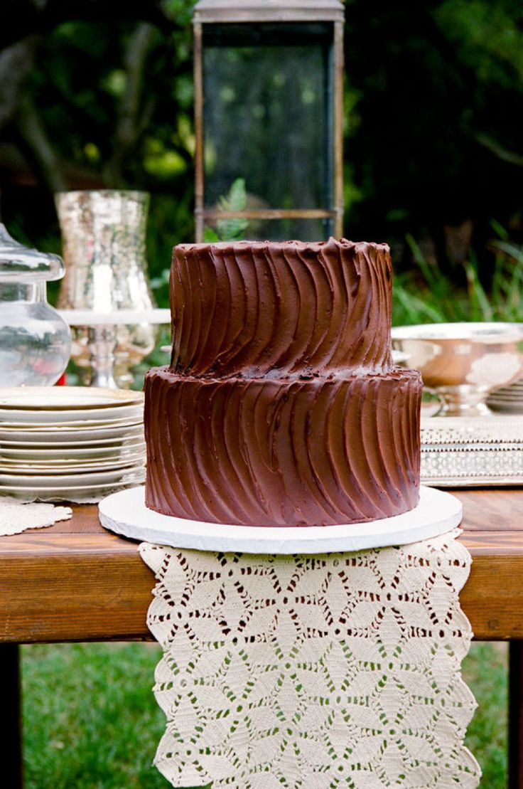 chocolate wedding cake | fabmood.com