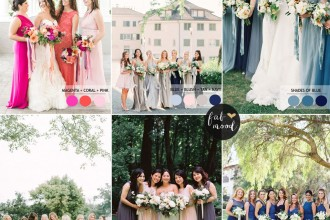 Mix and Match Bridesmaid Dresses by Colours | fabmood.com