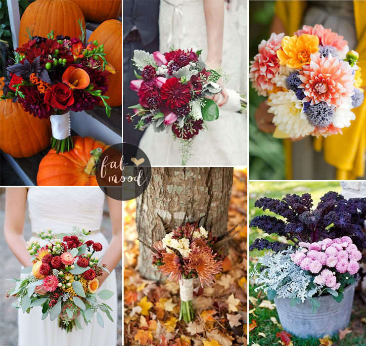Chrysanthemum bouquet - Fall Wedding Flower Colors Ideas | fabmood.com