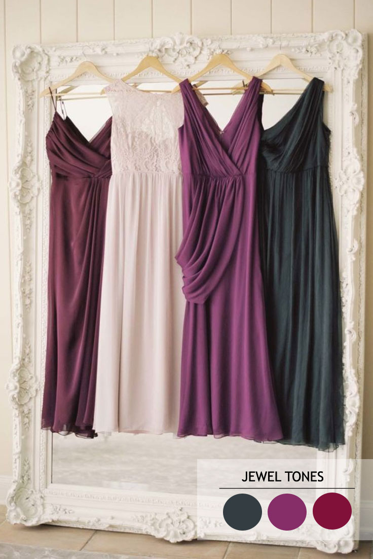 Jewel tones - Autumn wedding colour combinations | fabmood.com