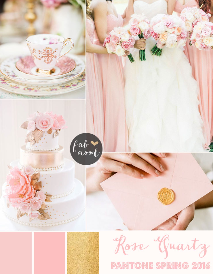 Rose Quartz Wedding Pantone Spring 2016 : http://www.fabmood.com/rose-quartz-wedding-theme #pinkwedding