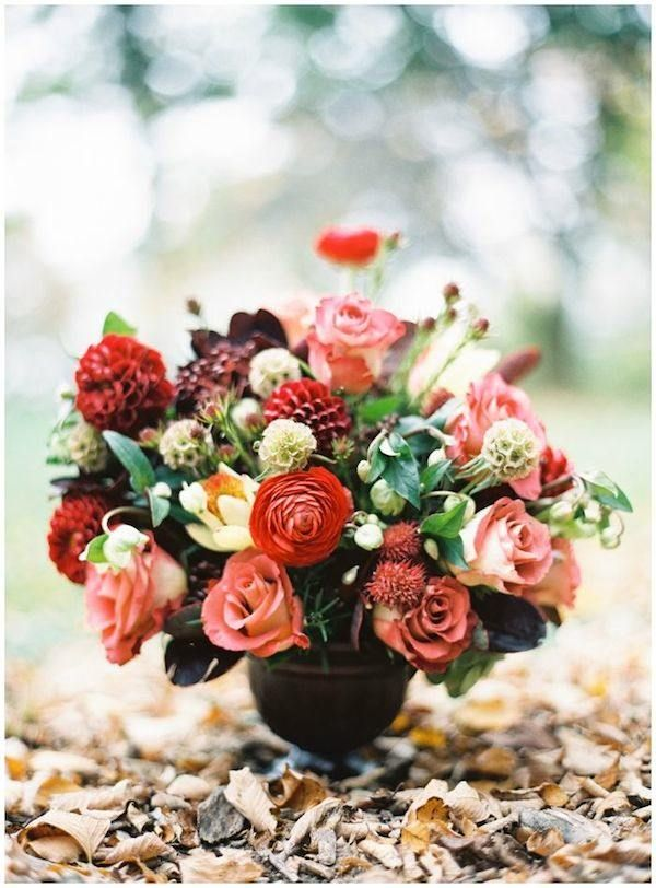 Autumn wedding flowers with burgundy details junglespirit Choice Image