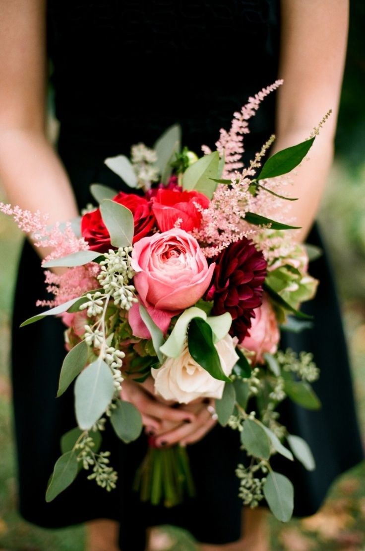 Autumn Wedding Flowers With Burgundy Details