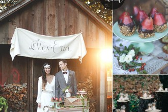 Autumn Rustic Woodland Wedding Inspiration { Burgundy + Marsala + Plum } : http://www.fabmood.com/autumn-rustic-woodland-wedding-inspiration #autumnwedding #woodlandwedding